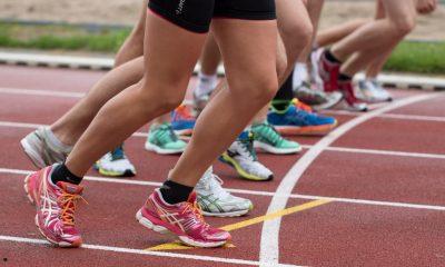athlètes sur la ligne de départ, cbd et sports