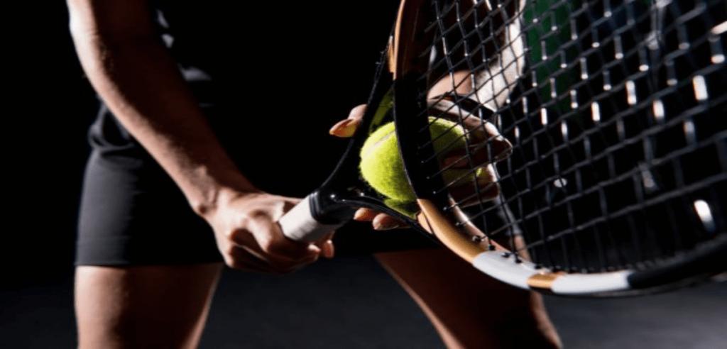 Tenniswoman prête pour sa compétition