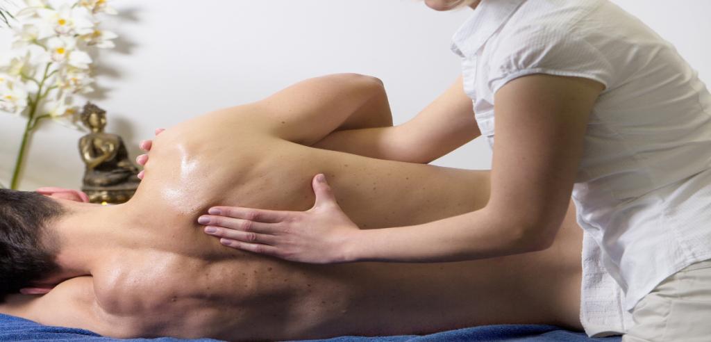Séance de massage au crème cbd